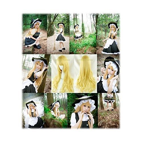 LUGANO ---- Touhou Project Marisa Kirisame cosplay costume wig + wig net (japan import)