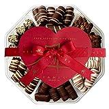Dark Chocolate Valentine's Gift Box - Handcrafted Chocolate Truffles, Valentines Day Chocolates.