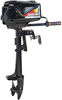 XYOUNG 3.6HP Heavy Duty 2-Stroke Outboard Motor Inflatable Boat Engine with Water Cooling CDI System for Fishing Boats, Sailboats, and Small Yachts
