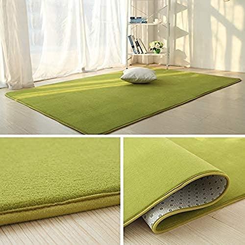 ラグ カーペット 洗える ラグマット130*200 (約1.5畳) 滑り止め マット 絨毯 厚約1.2cm 防ダニ 抗菌 防臭 ふわっと手触り 1年中使えるタイプ 床暖房/ホットカーペット対応 (グリーン)