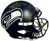 Authentic Autographed Russell Wilson Seattle Seahawks Speed Riddell Football Helmet In Green RW ~ NFL Football Helmets