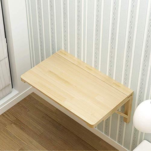 Mesa montada en la pared Mesa de pared plegable, Mesa de pared de madera maciza Mesa de comedor Detalle Plegable escritorio de aprendizaje Mesa de aprendizaje Mesa plegable de pared Estudio Tamaño opc