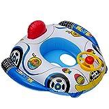 子供用 ベビー 浮き輪 水泳リング 赤ちゃん 足入れ 可愛い 1-5歳 子供用ベビーフロート環境保護PVCインフレータブルベビーシートハンドルホーン水泳ボート