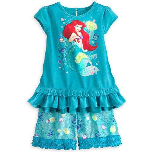 Shop Prinzessin Ariel kleines M?dchen 2PC Kurzarm Pyjama Set 5/6