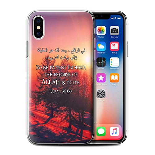 Stuff4® Gel TPU Hülle/Case für Apple iPhone XS/Verheißung Allah Ist Wahrheit Muster/Islam Koran Vers Kollektion