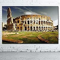 古代の建物ローマコロッセオキャンバスウォールアートポスターHdプリント部屋の装飾寝室の装飾家の装飾写真(23.62X31.50インチ)60X80Cmフレームなし