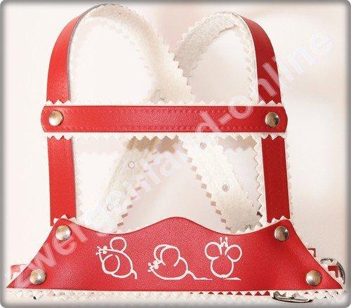 Sunnybaby 10382 - Kinderschutzgurt aus Leder mit Prägemotiv, rot