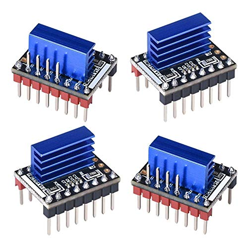 HYY-YY 4PCS TMC5161 V1.0 Stepper Motor Step Stick Mute Silent Driver Support SPI with Heatsink for 3D Printer Control Board