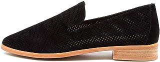 diana ferrari Nansie Dk Tan Leather Womens Shoes Loafers Flats