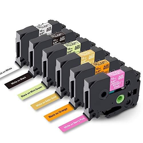 Nastro per Etichette Markurlife Compatibile In sostituzione di Brother P-Touch 12mm Etichetta TZe-231 TZe-335 TZe-MQP35 TZe-MQ835 TZe-MQG31 TZe-B31 per Brother P-Touch PT-210D PT-P700 CUBE