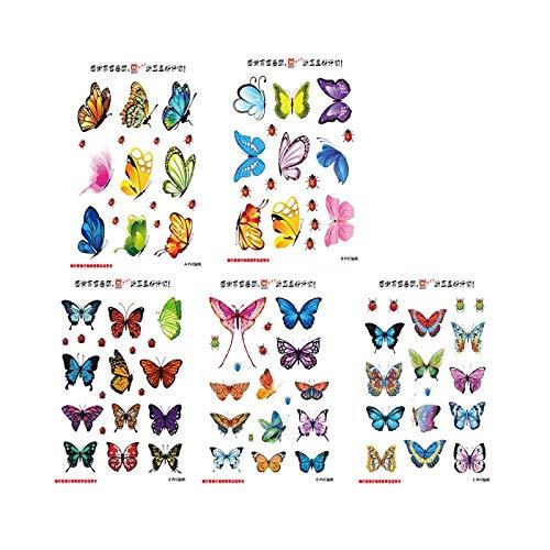 Pegatinas de pared de mariposa, maleta, decoración para ordenador portátil, moda, decoración del hogar, papel tapiz artístico, pequeños regalos