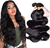TNICE Tissage Naturel Cheveux Humain Ondulé Meche Bresilienne Bouclee 10 12 14 pouces Tissage Bresilien en lot Cheveux Naturel Humain Extension Cheveux Naturel