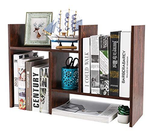 Bush Furniture Salinas 5 Shelf Bookcase in Antique White