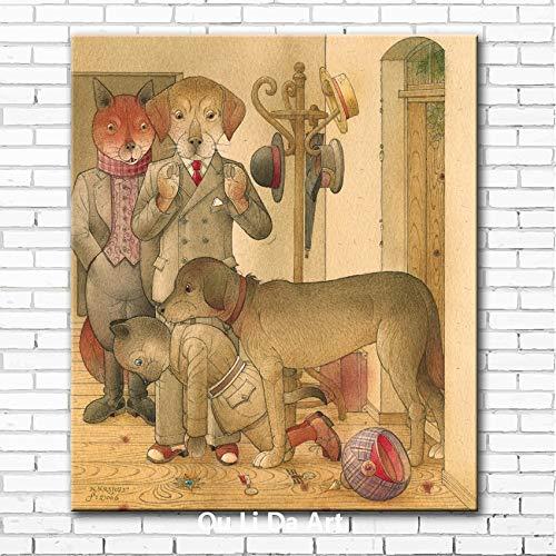 FPUYB 1000 Stück Puzzle 75 * 50 cm mit Aufbewahrungstasche Holz Papier Puzzle Cartoon Hirten Tier Hundehütte Mr. Kinder Lernspielzeug Schlafzimmer Dekoration Aufkleber