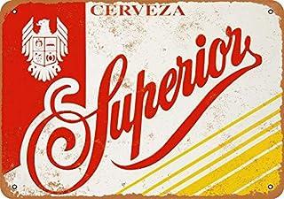 Vintage Decorative Metal Signs Superior Cerveza Metal Tin Sign Wall Decor 12 X 18 Inches