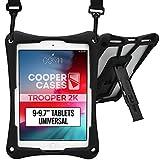 Cooper Trooper 2K Funda Tablet de 9 a 9,7' (22,86-24,64 cm)| Soporte Parachoques Protector a Prueba de Golpes para niños Transporte Bolsa (Negro)