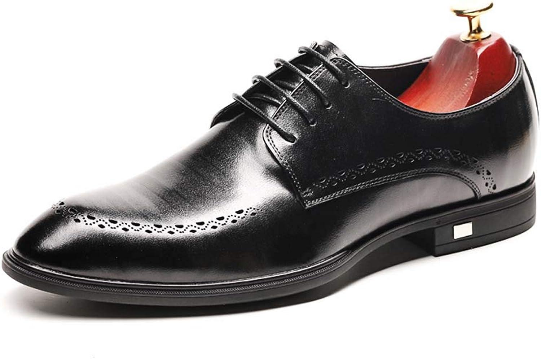 MISS&YG Herren-Business-Schuhe Herren Broch Retro Geschnitzte Schuhe
