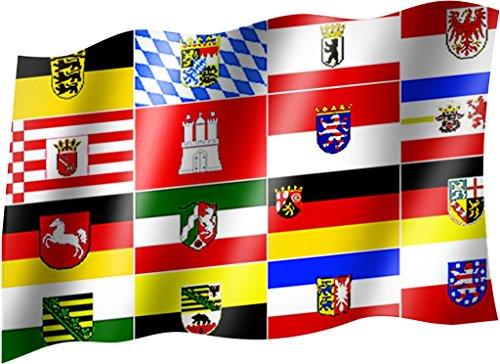 Flagge/Fahne DEUTSCHE BUNDESLÄNDER Staatsflagge/Landesflagge/Hissflagge mit Ösen 150x90 cm, sehr gute Qualität