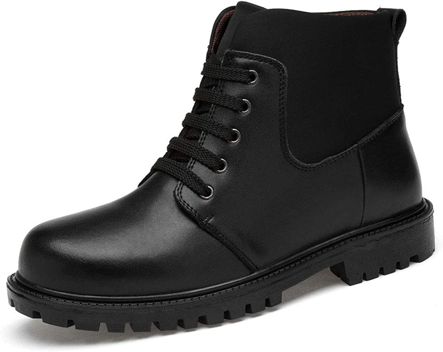 Men's shoes Men's Boots, Leather Winter Warm shoes Motorcycle Mens Ankle Boot Martins Booties Autumn Men shoes For Party & Evening Men's Fashion Boots (color   A, Size   39)