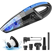 Tabiger Handheld Vacuum, Cordless Car Vacuum Cleaner Rechargeable 120W Powerful Suction, Portable Lightweight Wet Dry Vacuum 3500mAh Lithium Hand Vac for Home Pet Hair Office Car Cleaning