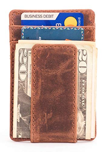 Full-Grain Leather Money Clip Walle…