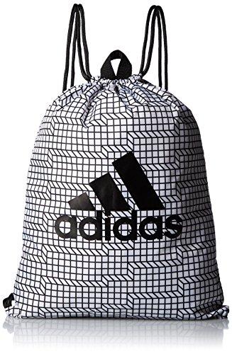 adidas Brushed Gym Bag - Sporttasche, Unisex Erwachsene, Weiß (Weiß/Schwarz/Schwarz), NS