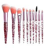 DÍa De San ValentÍn Brochas De Maquillaje Profesional Cepillo Cosmético Maquillaje Del Labio Del Cepillo La Sombra De Ojos 10Pcs Set Brochas Maquillaje Para Ojos Cejas Base De Maquillaje Polvos Crema