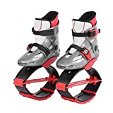 Alomejor Jumping Shoes Sports Kangaroo Boots Fitness Bouncing Shoes Kids Children Exercise Trainning Toys(36-38-Red)