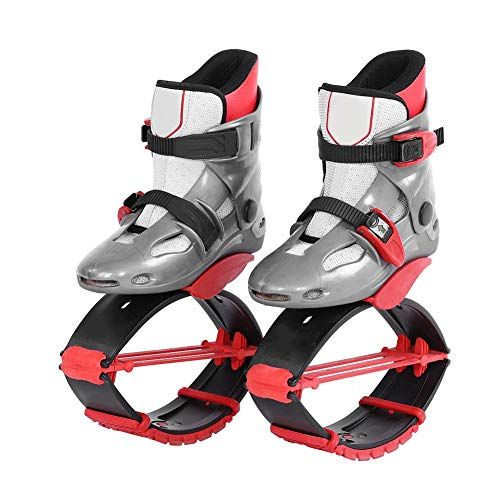 Alomejor Jumping Shoes Sports Kangaroo Boots Fitness Bouncing Shoes Kids Children Exercise Trainning Toys(33-35-Red)