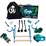 Jungle Highline Kids Obstacle Course   Extreme Ninja Obstacle Course   7 Obstacles Including Monkey Bars, Swinging Rings, and Monkey Knots Kit   Designed in The USA