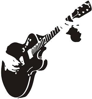Vosarea Guitar Wall Sticker Self-Adhesive DIY Wall Art Murals Decals Wallpaper Decor for Guitarist Living Room Bedroom Bat...