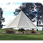 TentHome 4 seasons waterproof cotton bell tent with stove hole on the roof Glamping tent for camping Christmas party 6