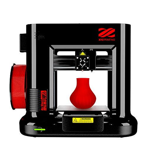 "da Vinci Mini Wireless 3D Printer-6""x6""x6"" Volume (Includes: 300g Filament, PLA/Tough PLA/PETG) - Upgradable to print Metallic/Carbon PLA"