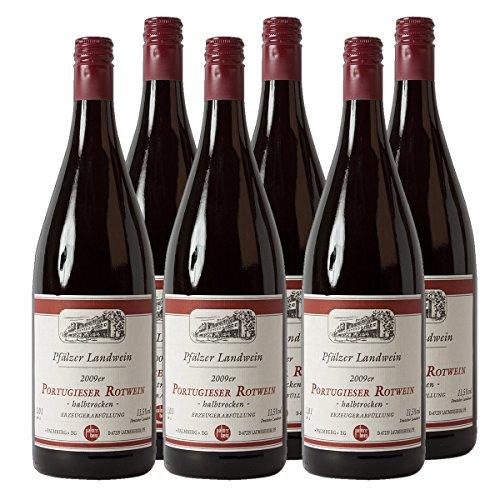 Pfälzer Landwein Portugieser Rotwein Pfalz 2016 Liter halbtrocken (6x 1 l)