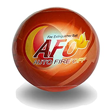 AFO Fire Ball, ABC Fire Extinguisher, Fire Suppression Device, Fire Safety Product With Sign