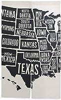 TINZZEROS のれん おしゃれ 地図 おしゃれコットン 風景 冷暖効率アップ 宿泊施設の ロング暖簾 ドレープカーテン ロング カーテン 中国風 綿と麻の混紡の 突っ張り棒付き 幅70㎝×丈150㎝