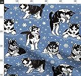 Hund, Welpe, Schnee, Husky, Schnee Stoffe - Individuell