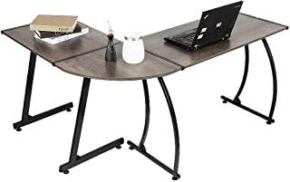 Computertafel   Bureau   Hoekbureau   L vormig   Laptop Hoek Bureau   Vintage (Retro-eiken)