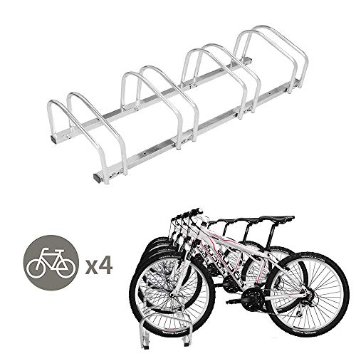 TOYEEKA 4 Bicycle Rack Adjustable Storage Parking Garage