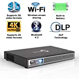 Best Tv Projectors Dlps - Mini Projector Portable 3D DLP-Link Smart Video Review