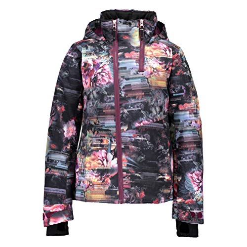 Obermeyer Kids Girl's Taja Print Jacket (Little Kids/Big Kids) Scattered Floral LG (14-16 Big Kids)