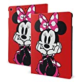 Minnie Red Case Fit iPad 7 th 10.2 Inch Case with Auto Sleep/Wake Ultra Slim Lightweight Stand Leather Case