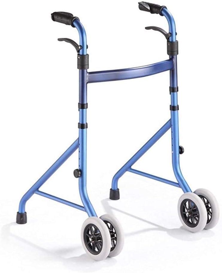Walker for Seniors Max 66% OFF Rollator Aluminum Frame Folding Walking Alloy Translated