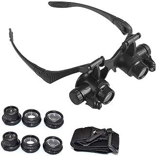 Ganghuo Loupe de réparation pour bijoutier et montre - 8 lentilles interchangeables - Loupe grossissante pour réparation d...