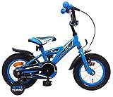 AMIGO BMX Turbo - Bicicleta para niños de 12 Pulgadas, con Ruedas de Entrenamiento y Freno de Posavasos, Color Azul