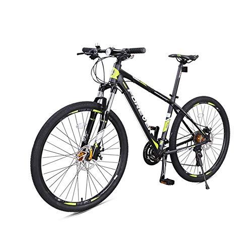 AEDWQ 30-Gang Mountainbike, 27,5-Zoll-Aluminium-Rahmen, Doppel Fahrwerk, Doppelscheibenbremse Bike, MTB Reifen, Schwarz, Rot/Schwarz, Grün, (Color : Black Green)