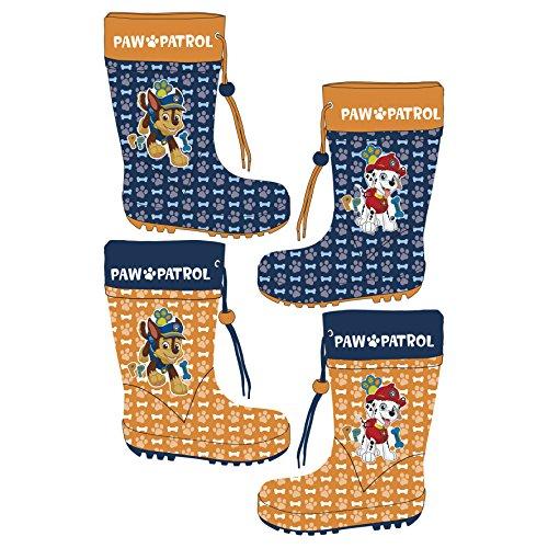 Kindergummistiefel AUSWAHL Paw Patrol Gummstiefel Kinderschuhe Regenstiefel (22, Orange)