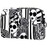 Bolsa de Maquillaje Tribal de Mujer Africana en Turbante, Bolsa de cosméticos, Bolsa organizadora de Viaje Multi03. 18.5x7.5x13cm/7.3x3x5.1in