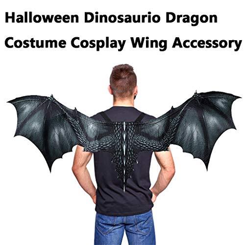 Halloween Maske Gruselig Halloween Maske Flügel Cosplay,Fantasy Halloween Dinosaurio Dragon Kostüm Cosplay Tiermaske Flügel Erwachsene Kostüm Zubehör