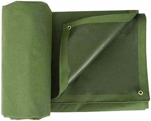 YUJIE Bache Verte De Tissu D'armée De Bache Faite De Tissu De Fil De Polyester 700g   M2